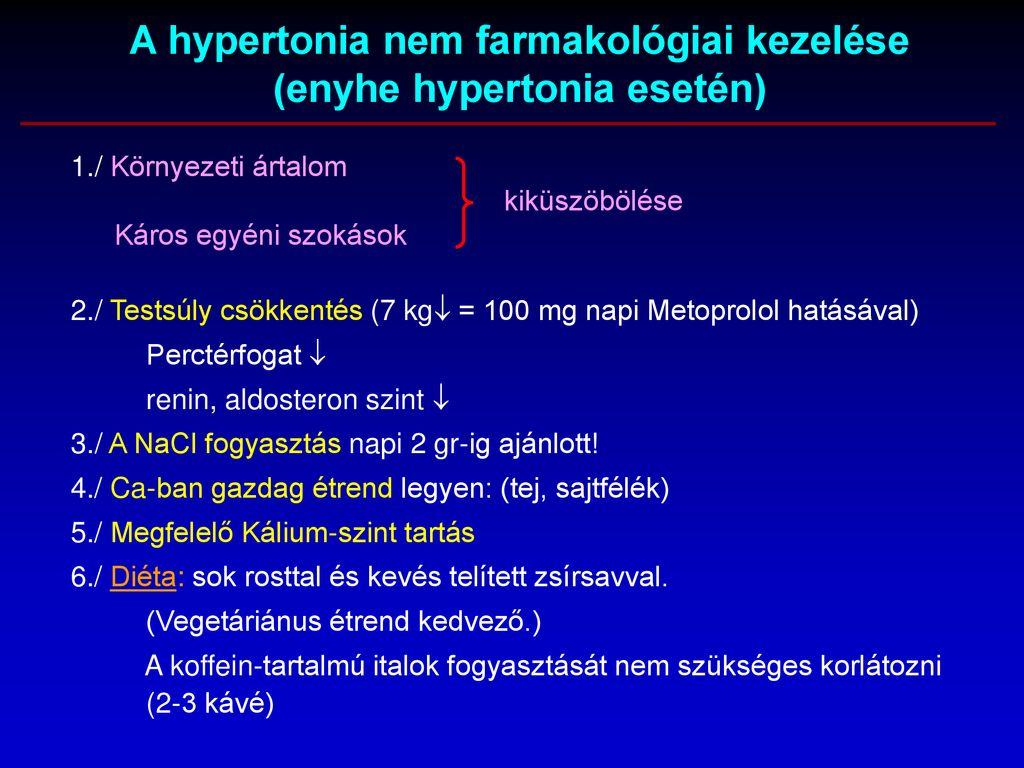 étrend vaszkuláris hipertónia esetén
