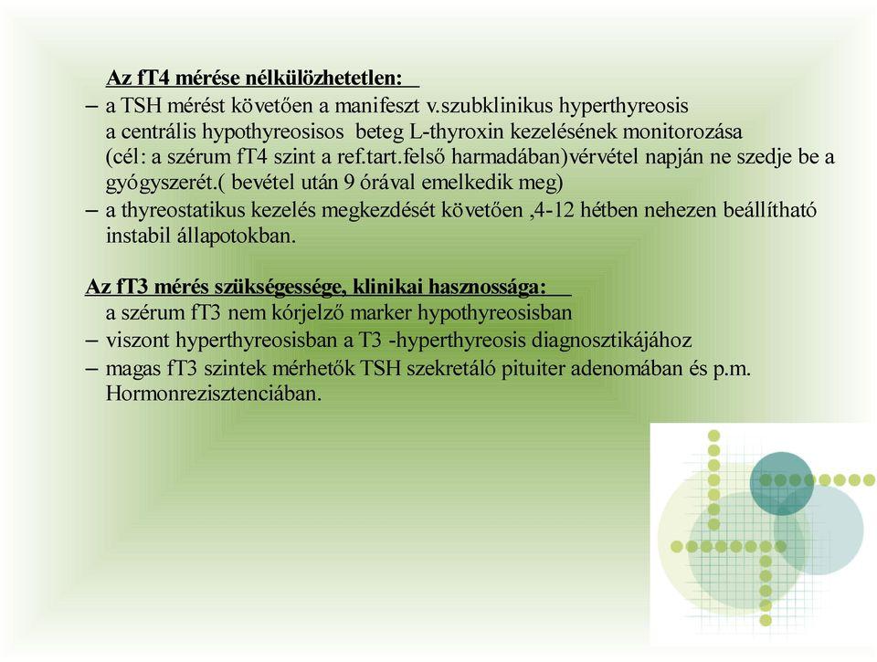 szubklinikai hypothyreosis és hipertónia