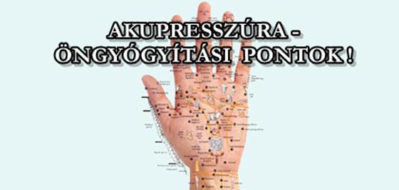 akupresszúrás pontok magas vérnyomás esetén