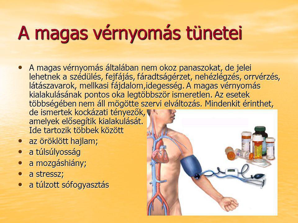 a magas vérnyomás mértéke és a kockázatok)