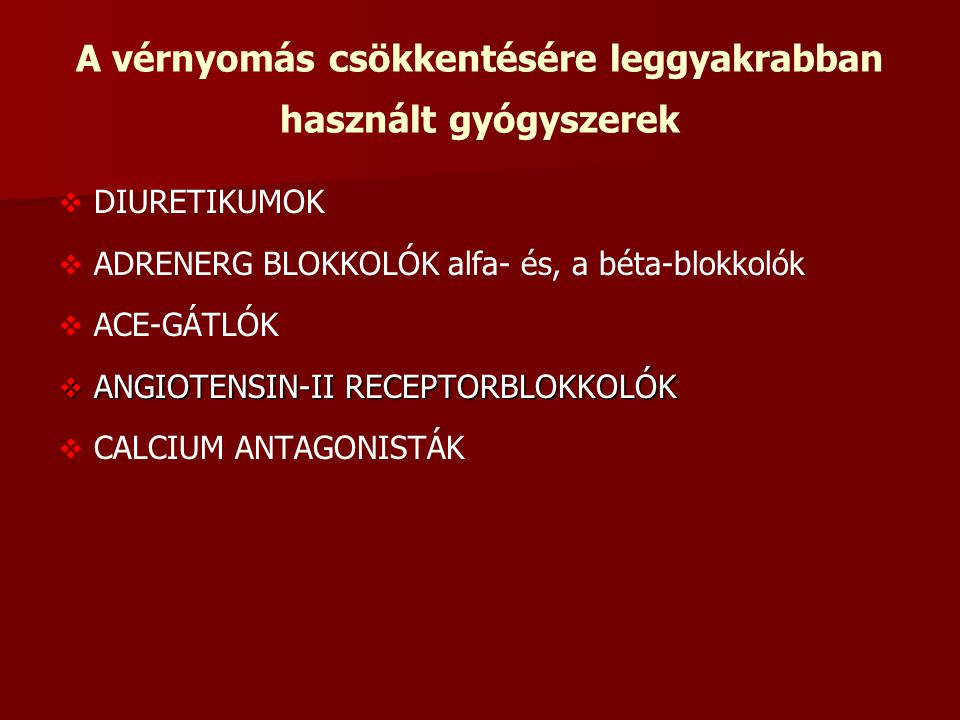 kalcium antagonisták a magas vérnyomás kezelésében)