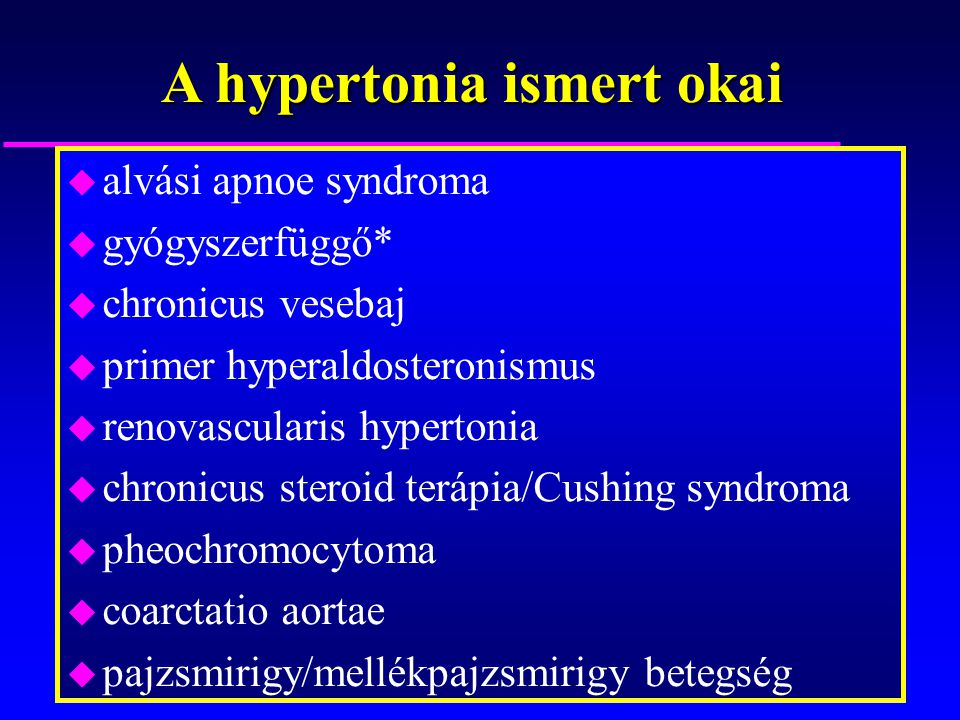a hipertónia típusai és okai magas vérnyomás és szédülés miatta