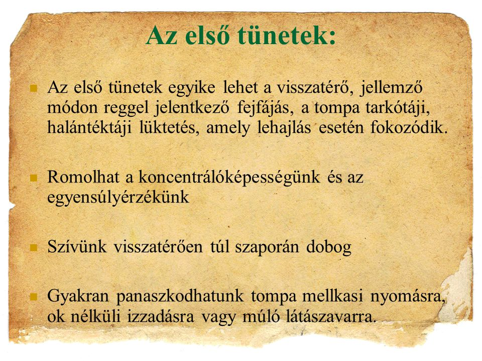 a hipertónia fokozódik)