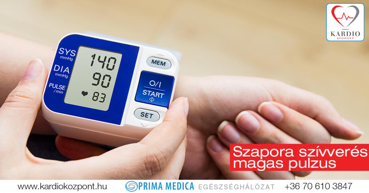 magas vérnyomás ritka pulzus