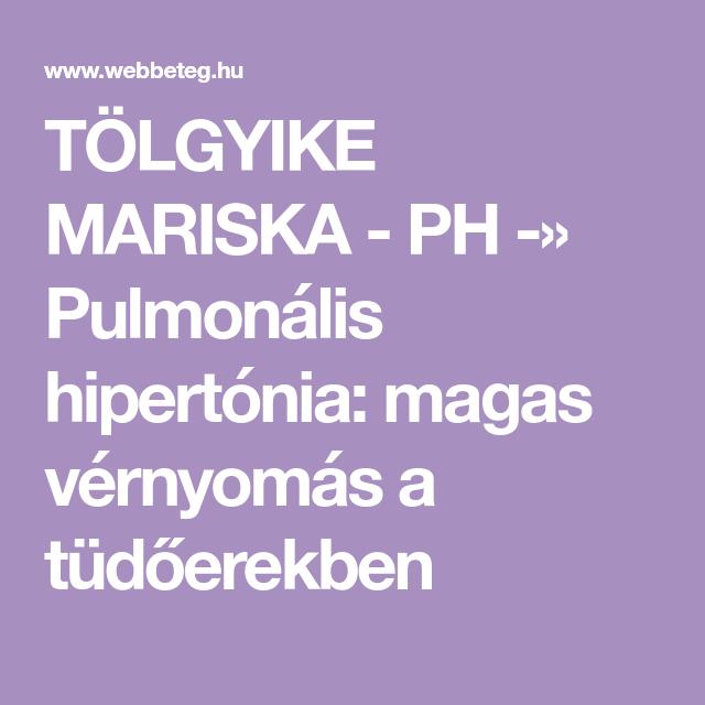 pulmonalis hipertónia és magas vérnyomás)