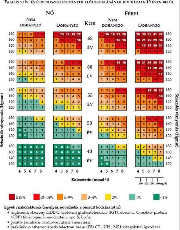 magas vérnyomás előfordulásának kockázata