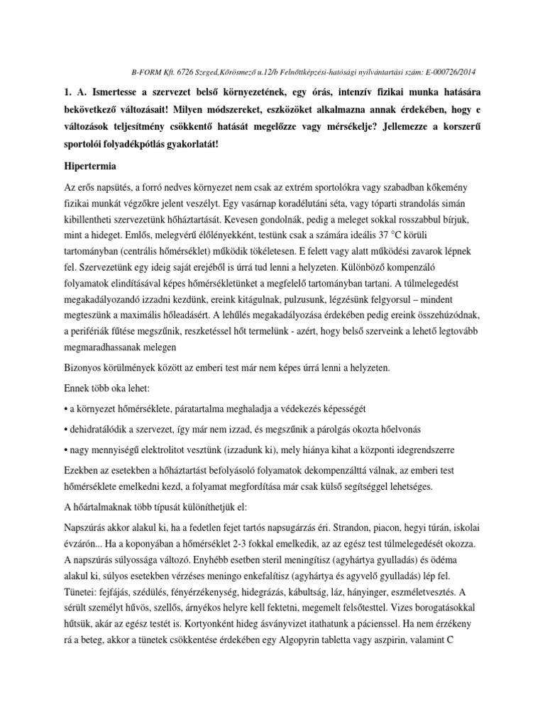 A scoliosis hipertóniára gyakorolt hatása - Spinalis scoliosis