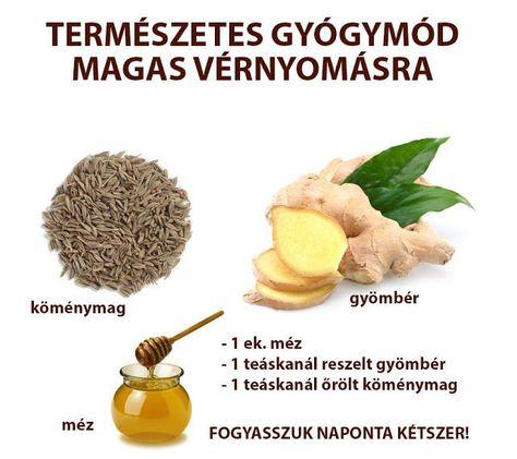 magas vérnyomás kezelés mézzel