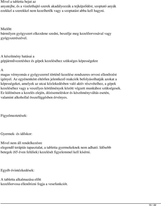 LOSARTAN-HCT 1 A PHARMA 50 mg/12,5 mg filmtabletta - Gyógyszerkereső - Háutosfeszt.hu