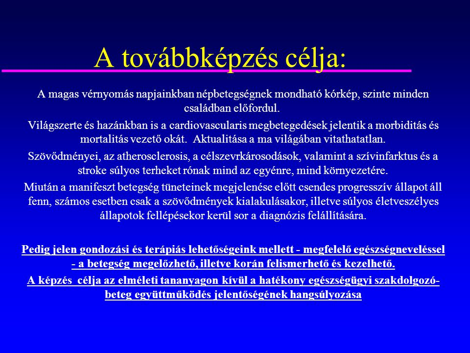 magas vérnyomás mortalitás)